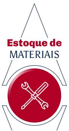 Estoque de materiais para elevadores